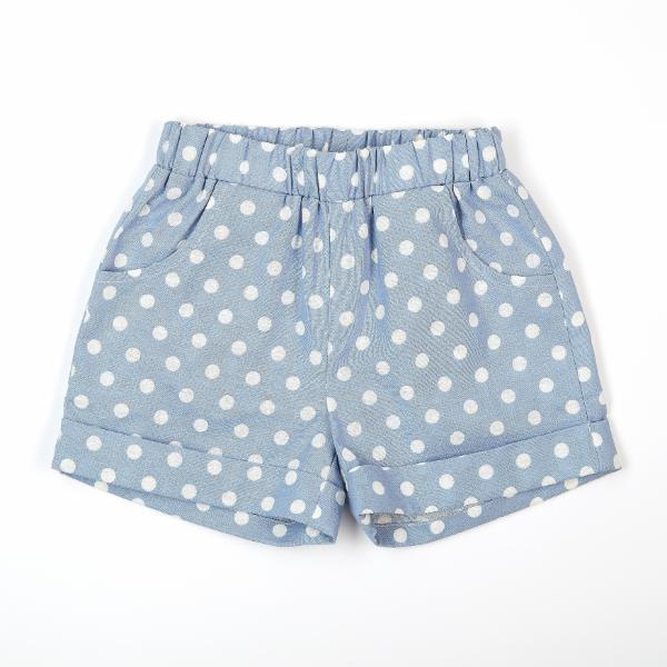 Elastic Waist Polka Dot Shorts w/ Pockets