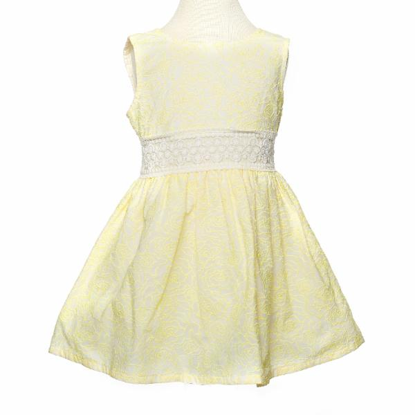 Lemonade Sleeveless Dress w/ Lace Trim