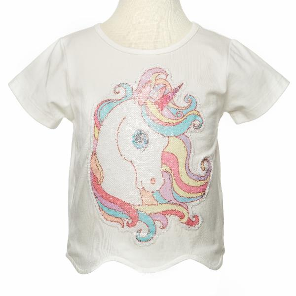 Rainbow Hair Unicorn Patch Tee - Doe a Dear