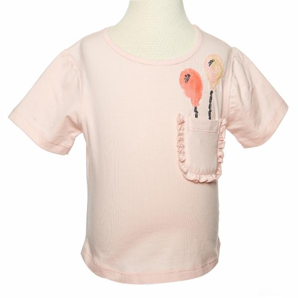 Pink Round Neck Balloon Pocket High Low Tee - Doe a Dear