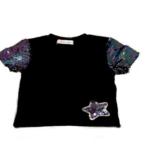 Star Sequin Patch Tee