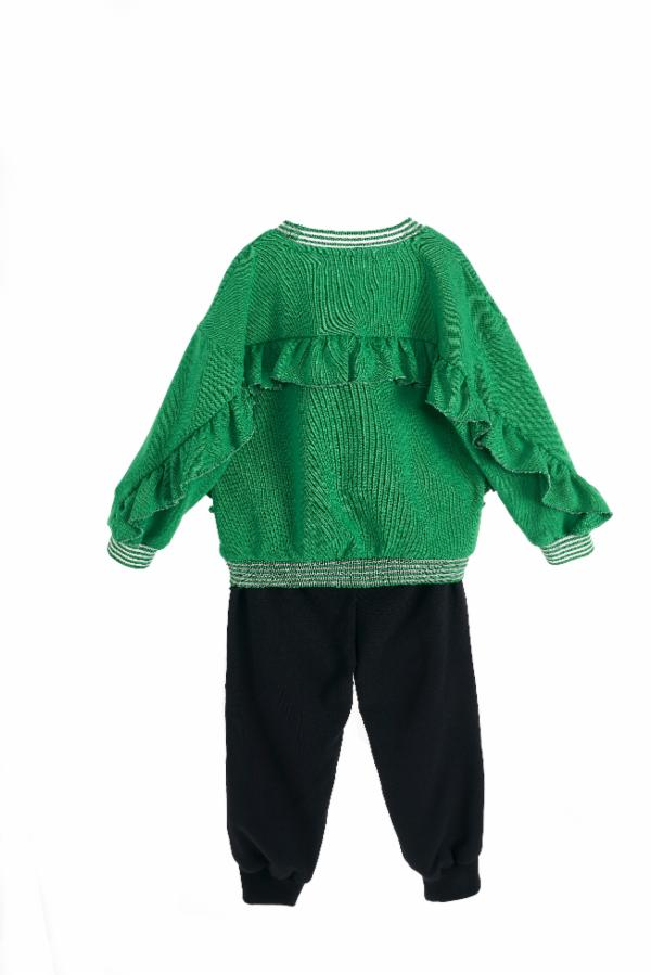 Long Sleeve Green Pear Reversible Sequin Sweater - Doe a Dear
