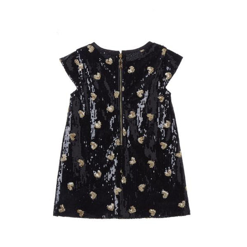 Sequin Heart Dress - Black
