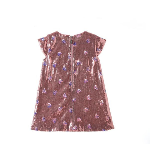 Sequin Heart Dress - Pink