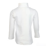 White Long Sleeve Turtle Neck w/ Center Seam - Doe a Dear