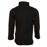 Black Long Sleeve Turtle Neck w/ Center Seam - Doe a Dear