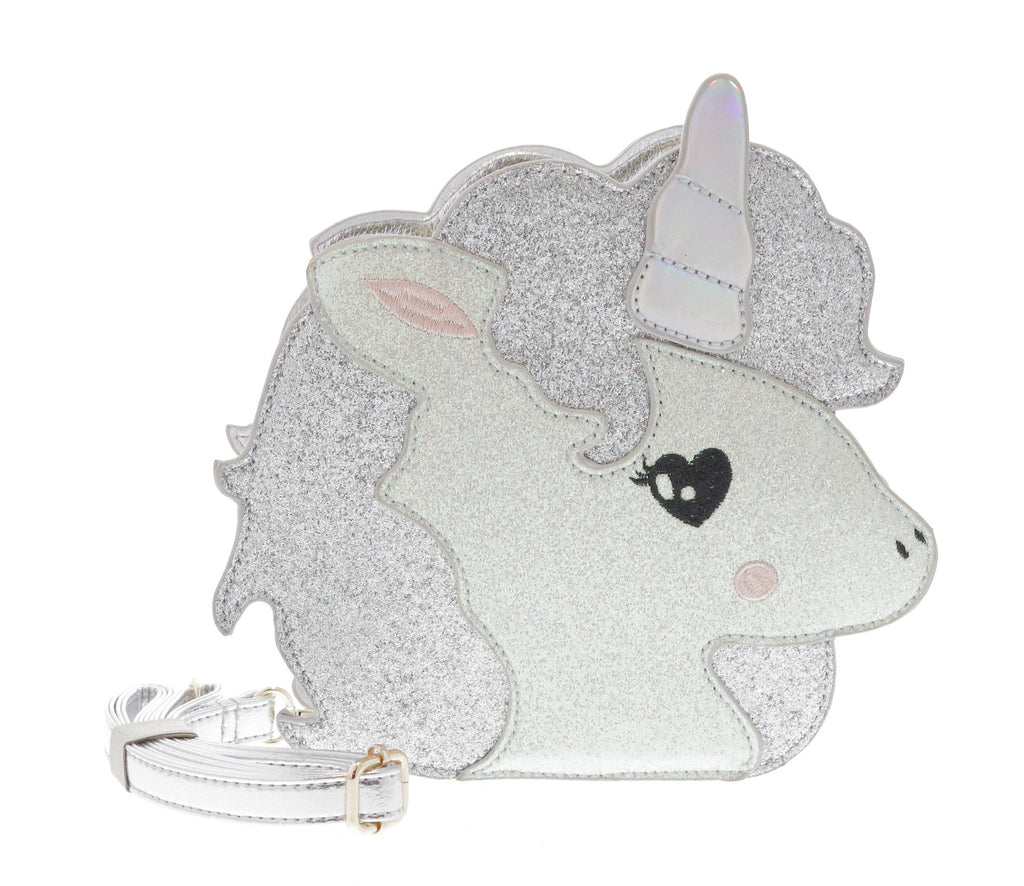 Unicorn Face Glitter CB Purse - Doe a Dear