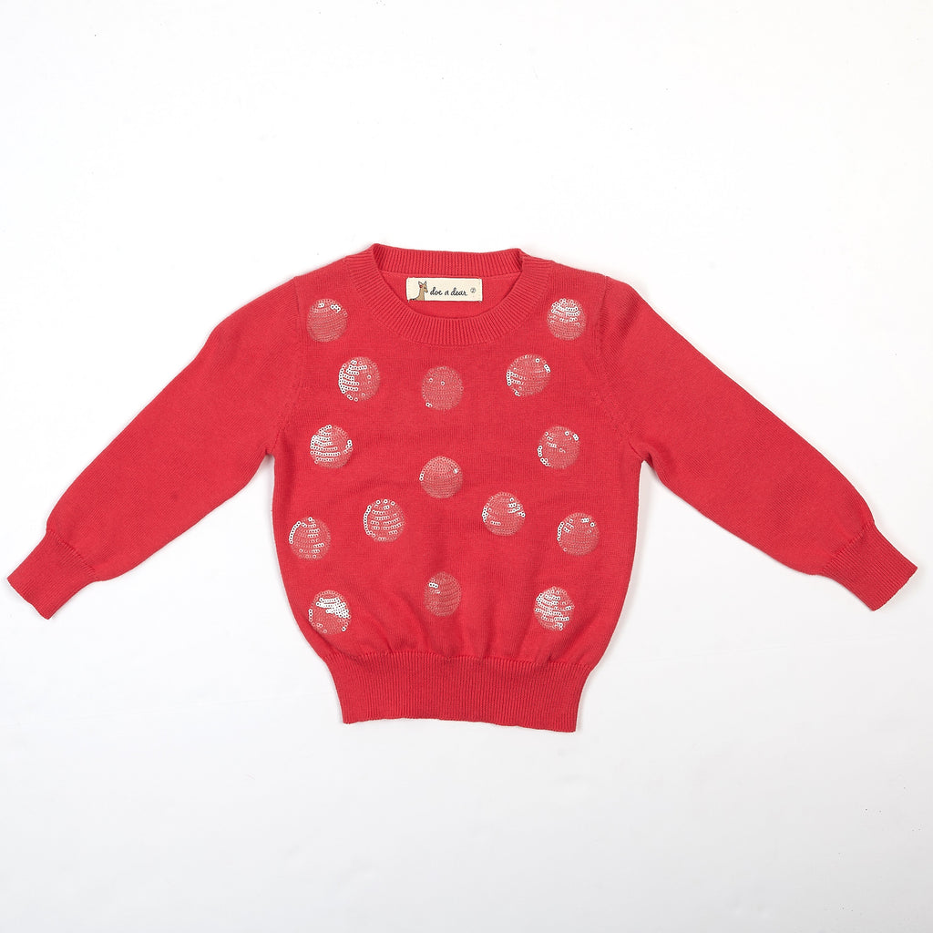 Sequinned Dots Kint Sweater