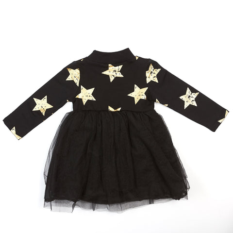Gold Star Dress - Doe a Dear