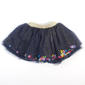 Navy Pom Poms Skirt - Doe a Dear