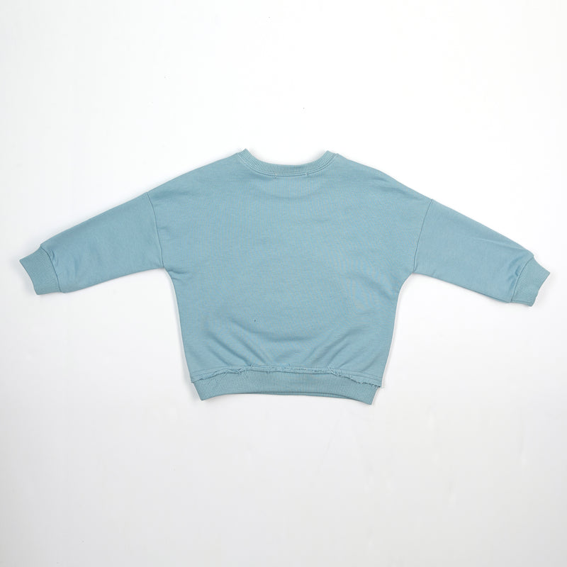 L/S Whale Patch Crew Neck