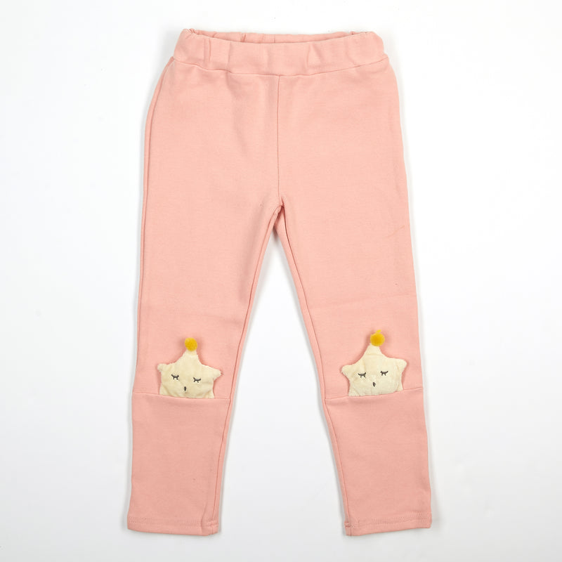 Elastic Waist Sleeping Star Pants