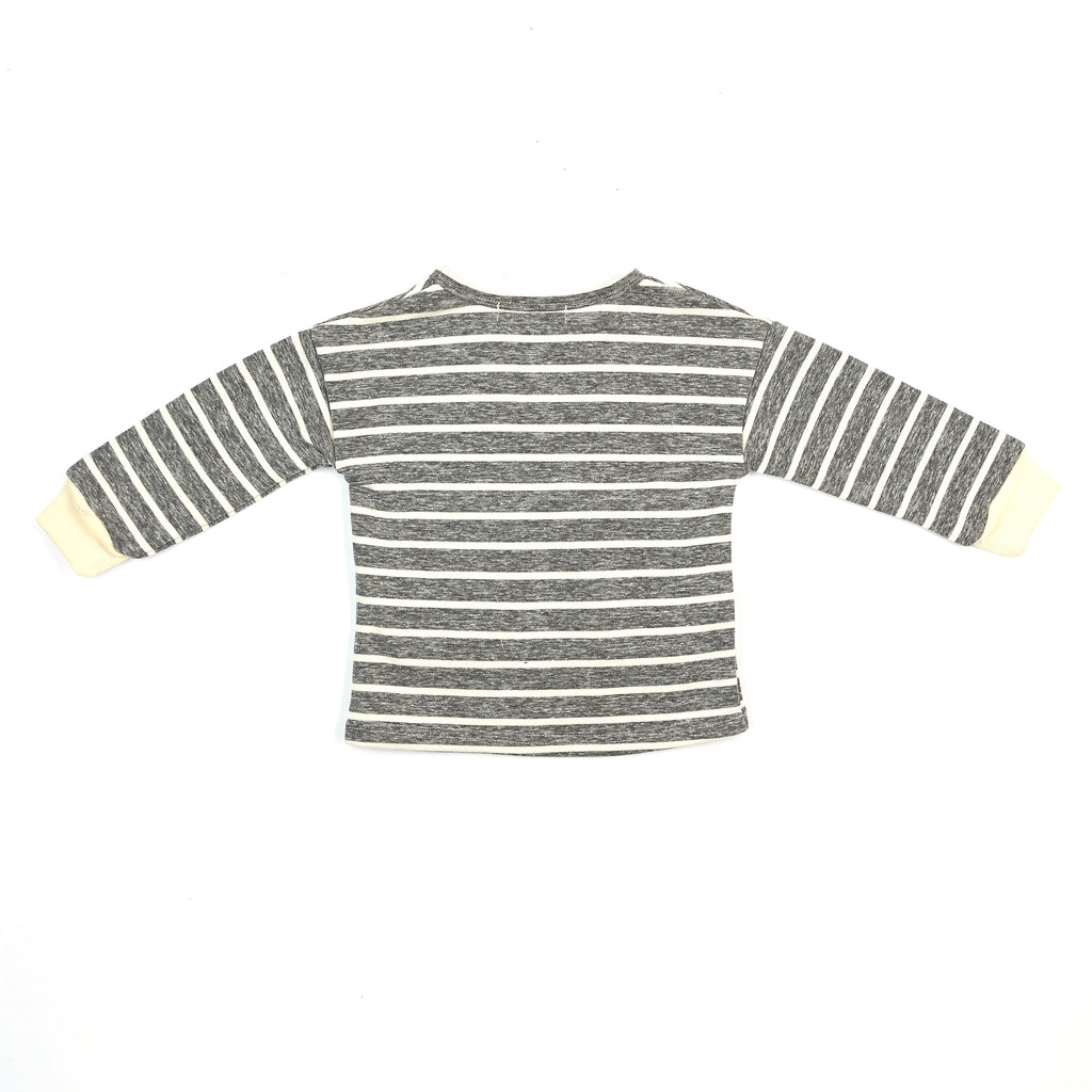 Knit Horizontal Striped with Fur Ears - Doe a Dear