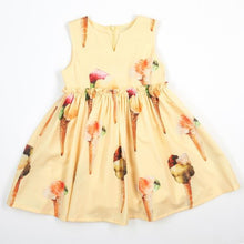 Slvls Empire Wst Dress w/ Ice cream Print