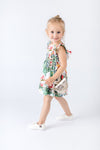 Tropical Flowers Print Milkmaid Dress