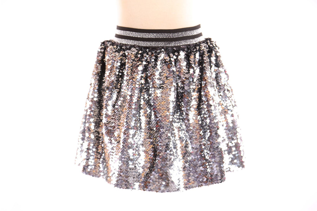 Striped Elastic Full Sequined A-Line Skirt - Doe a Dear