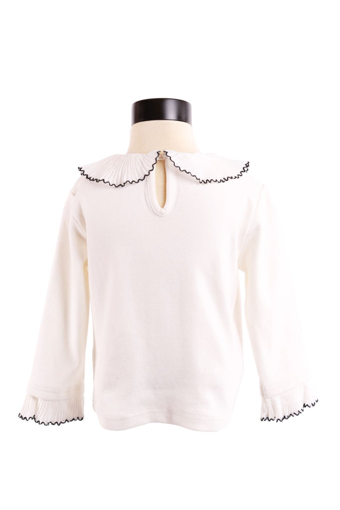 L/ S Ruffle Neckline Top - Doe a Dear
