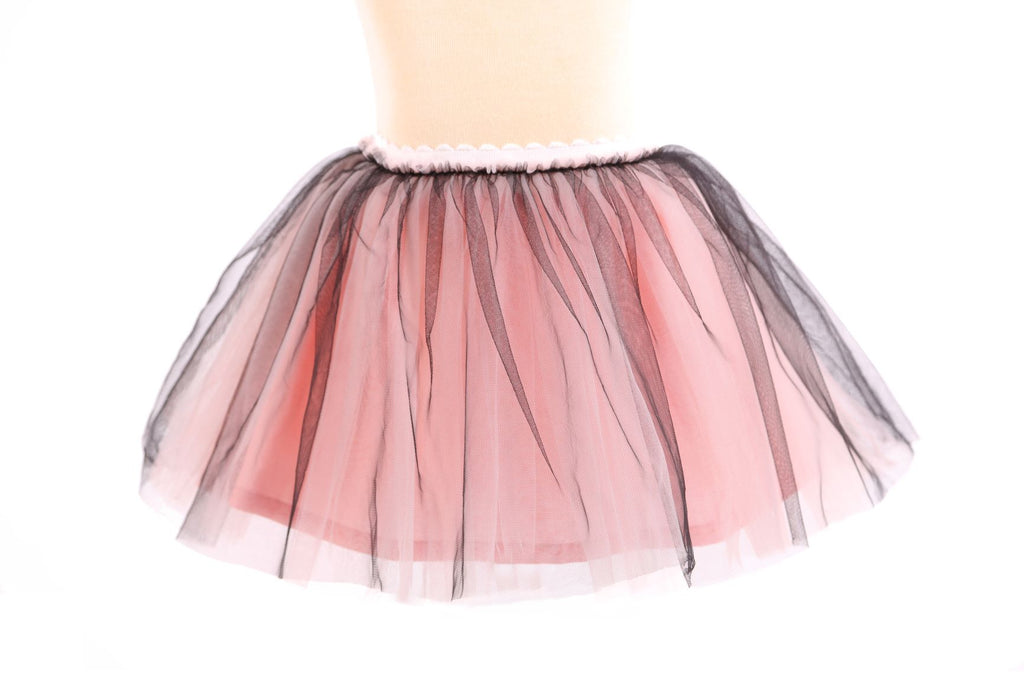 Pink Scalloped Elastic Two-Toned Tulle Tutu - Doe a Dear