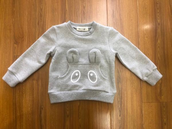 L/S Crew Sweater w/ Ears and Eyes Pocket - Doe a Dear