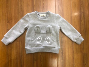 L/S Crew Sweater w/ Ears and Eyes Pocket