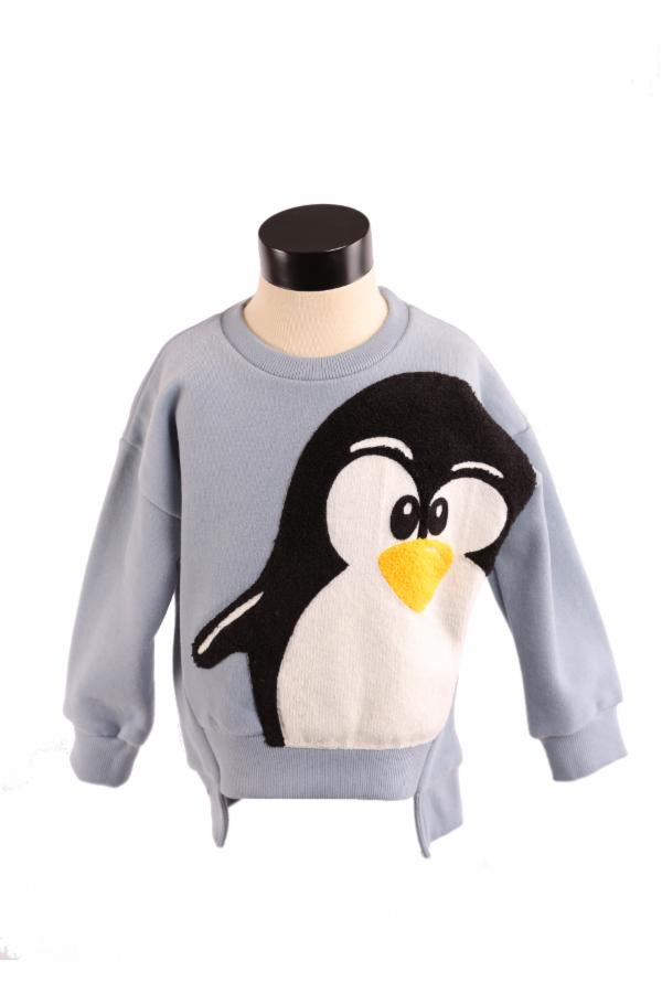L/S Crew Neck Sweater w/ Penguin Screen