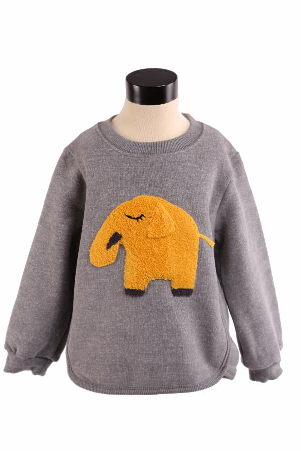 L/S Crew Nk Sweater w/ Elephant Patch