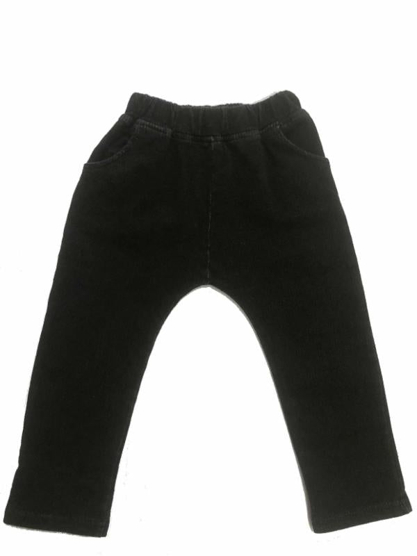 Elastic Waist Ribbed Pants w/ Pockets - Doe a Dear