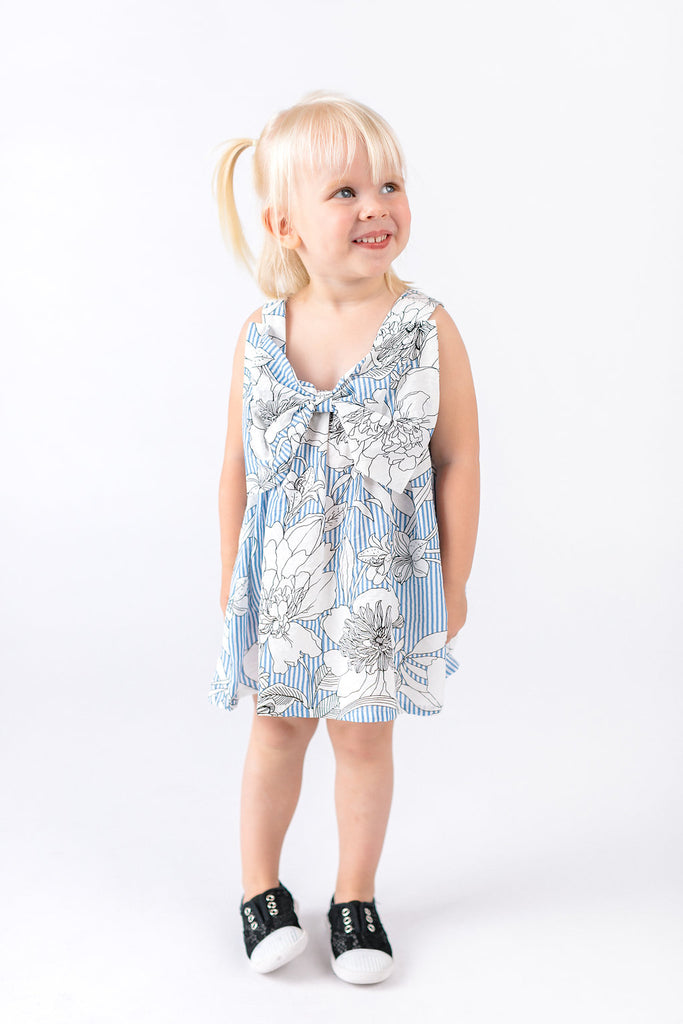 Sleeveless Lightweight Back Bow Dress - Doe a Dear