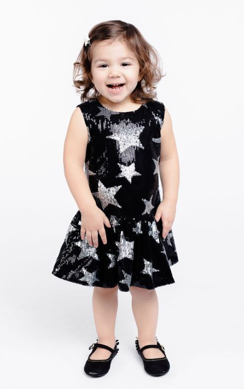 Star and Moon Sequin Dress