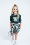 Sequin Skirt - Silver