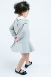 L/S Knit Shift Dress w/ Kitty Outline & Peter Pan Collar - Doe a Dear