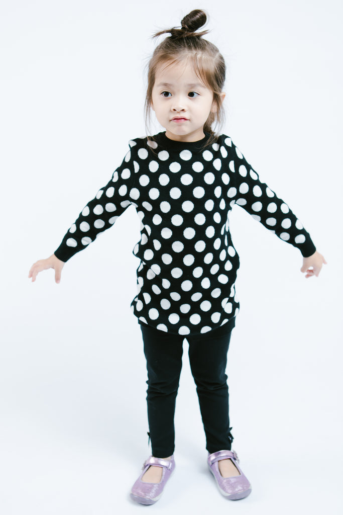 Long Sleeve Polka Dot Tunic - Doe a Dear