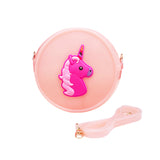 Unicorn Round Jelly Bag - Pink