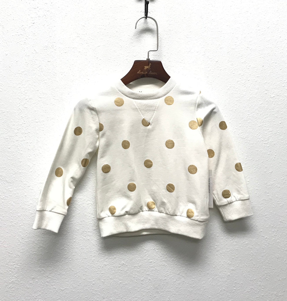 Gold Foil Dots Sweatshirt
