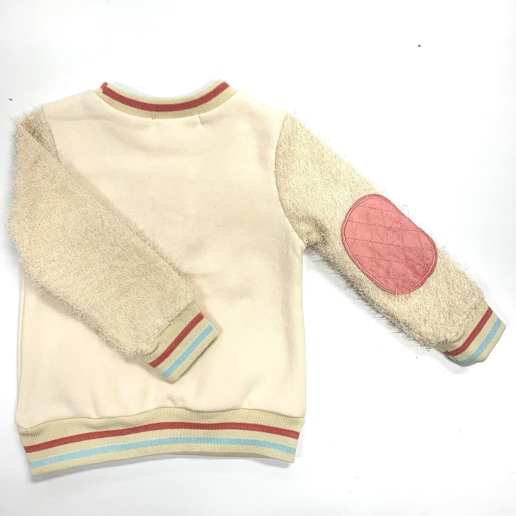 Long Sleeve Fur Crew Sweater w/Lollipop - Doe a Dear