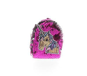 Sequinned Unicorn Coin Purse Key Chain