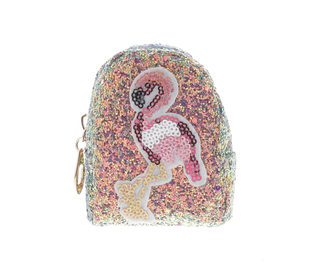 Sequin Flamingo Coin Purse Key Chain - Doe a Dear