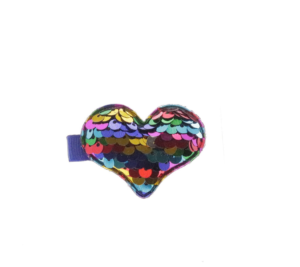 Heart Shaped Sequin Hair Clip - Doe a Dear