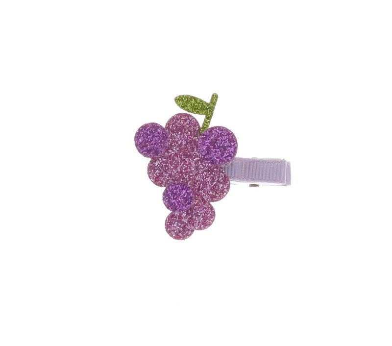 Glitter Grape Hair Clip