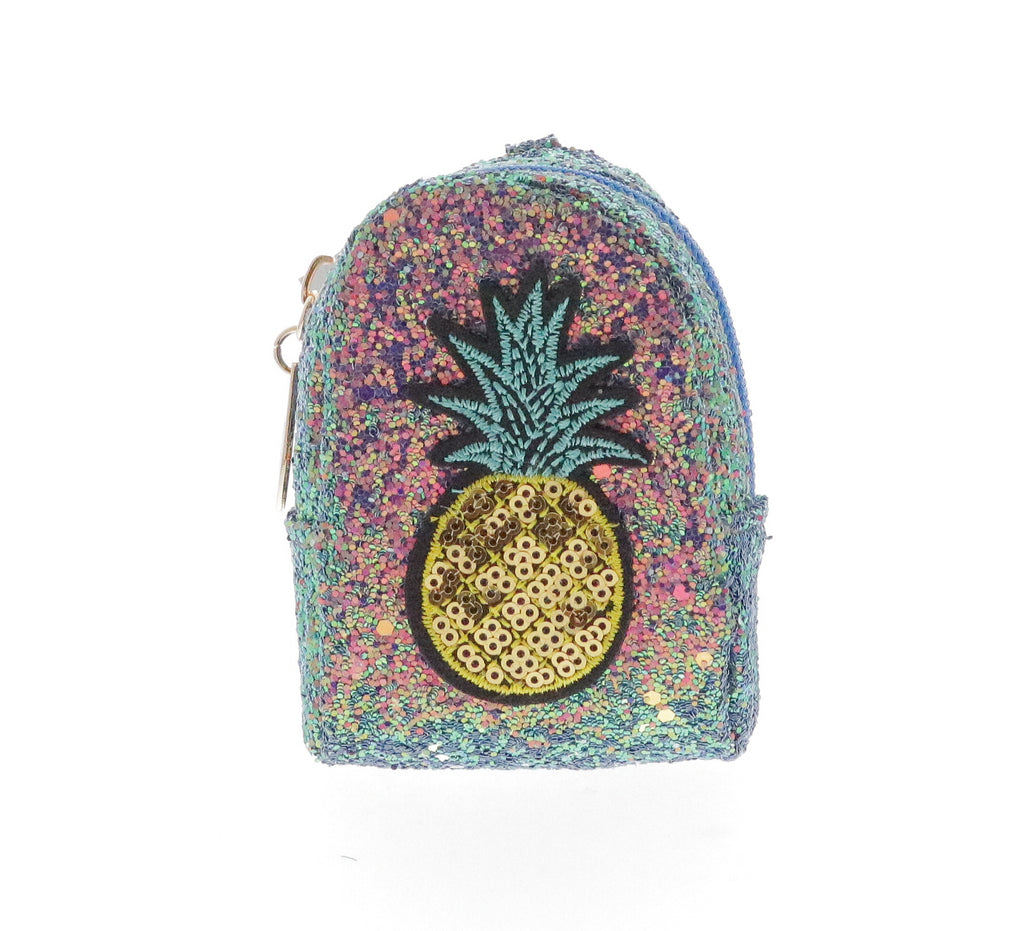 Sequin Pineapple Coin Purse Key Chain - Doe a Dear