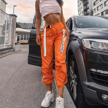 Orange High Waist Sweatpants