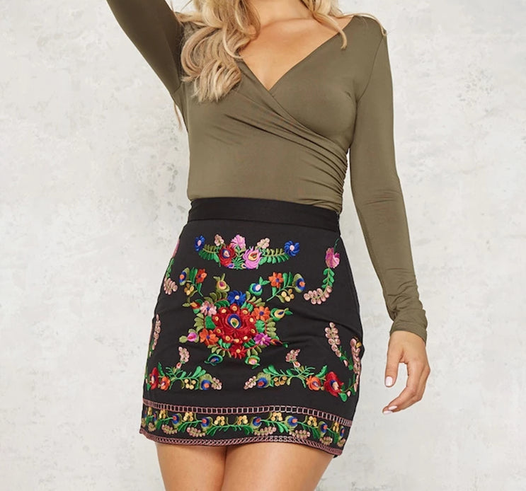 Betty Embroidered Skirt