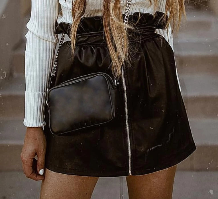 Black Magic Faux Leather Skirt