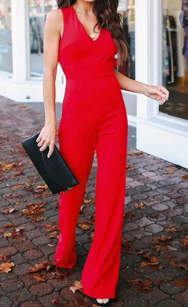 Ruby Red Jumpsuit