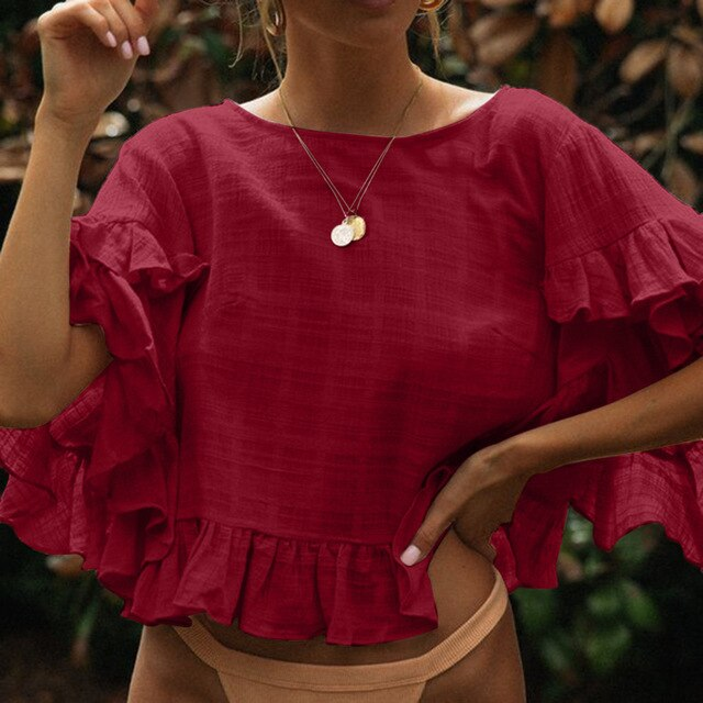 Delilah Ruffled Top