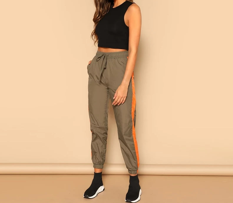 Alexa Army Green Harem Pants