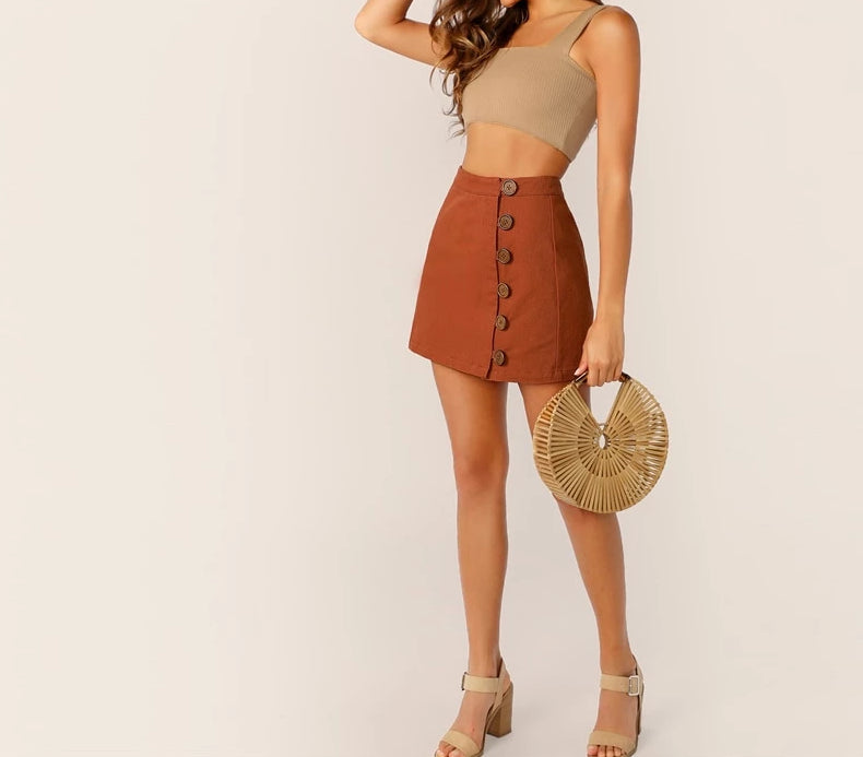 Mid Spring Brown Skirt
