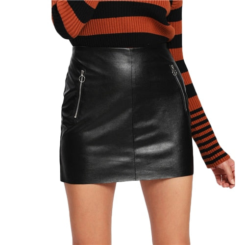 Baby Are You Down Faux Leather Skirt