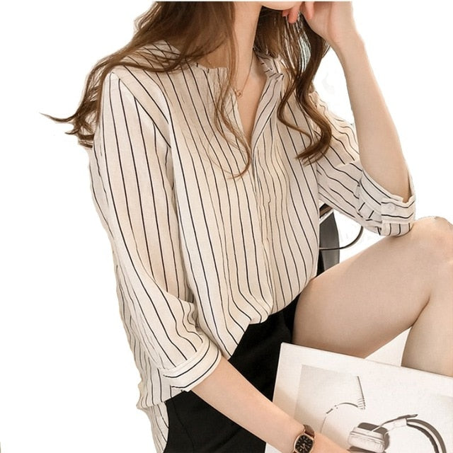 Summer Striped Blouse