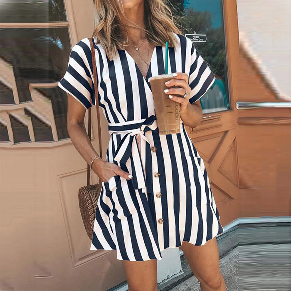 Easy Sunday Striped Dress